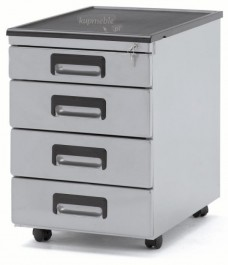 Kontener biurkowy srebrny 325-S