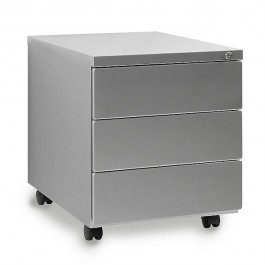 Kontener biurkowy srebrny 424-S
