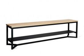 Ławka z siedziskiem z litego drewna Rudes