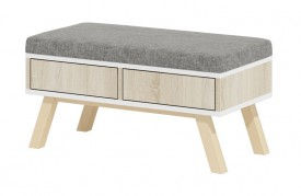 Stolik pufa z szufladami Espoo 2