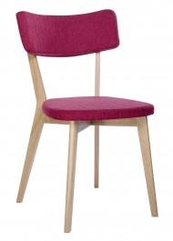 Tapicerowane krzesło Scandi na drewnianych nogach