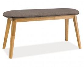 Tapicerowana ławka na drewnianych nogach Karl