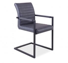 Krzesło tapicerowane ekoskórą Solid