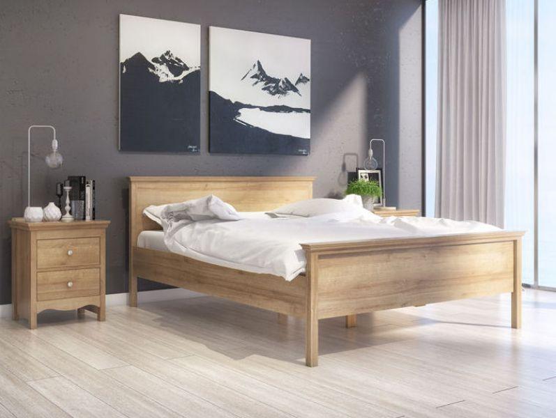 łóżko 2 Osobowe W Nowoczesnej Sypialni Z Dużym Oknem I