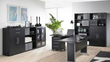 Tvilum - biurowe regały, szafy i szafki w kolorze czarnym Prima