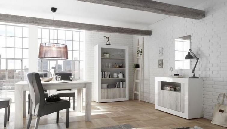 Fato Luxmeble - meble do salonu Fondi z frontem w kolorze pinia biała