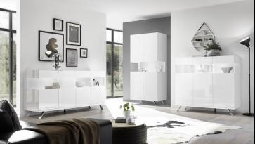 Fato Luxmeble - komody do salonu w białym połysku Glare