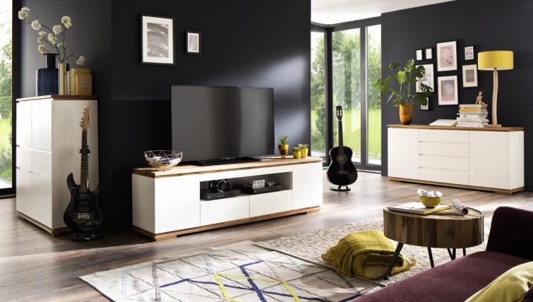 Fato Luxmeble - meble mieszkaniowe w kolorze białym matowym Luminos