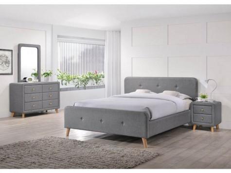 Signal - meble do sypialni w całości tapicerowane tkaniną Malmo w stylu skandynawskim