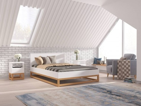 Visby - drewniane meble do sypialni w stylu skandynawskim Karin