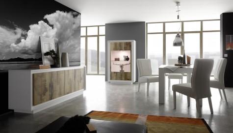 Fato Luxmeble - nowoczesne meble mieszkaniowe Paradise z drewnianym dekorem dąb pero
