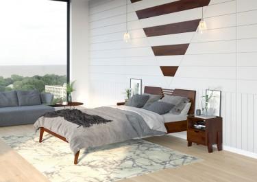 Nowoczesna sypialnia z bukowymi meblami