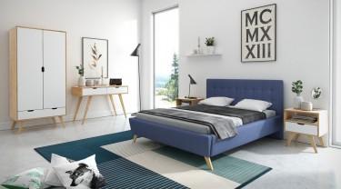 Nowoczesna sypialnia z meblami w stylu skandynawskim