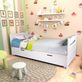 Klasyczne łóżko z pojemnikiem do pokoju dziecka