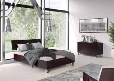 Ciemne meble do sypialni w nowoczesnej sypialni