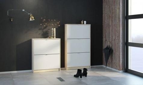 Tvilum - szafki na buty w kolorze dąb sonoma/biały Roma