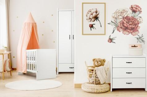 Little Sky - białe meble do pokoju dziecięcego w stylu klasycznym Amelia
