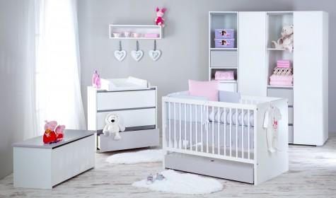 Klupś - meble do pokoju dziecka i niemowlaka Dalia biało-szare