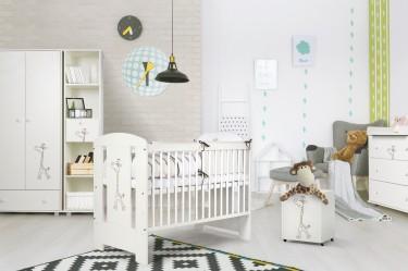 Białe meble dziecięce z dekorem dla chłopca i dziewczynki