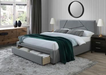 Łóżko sypialniane z wezgłowiem w nowoczesnej sypialni