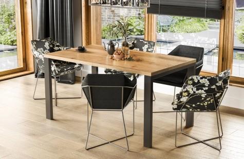 Endo - rozkładane stoły jadalniane na czterech metalowych nogach Garant