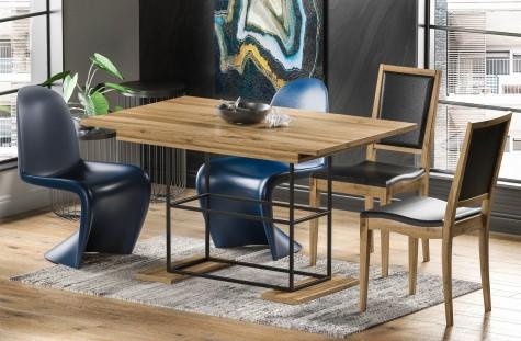 Endo - loftowe stoły na metalowej podstawie Gani