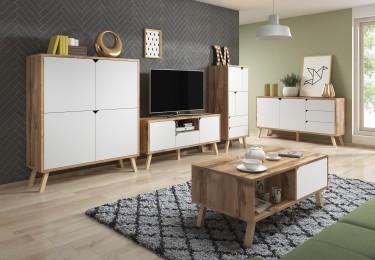 Skandynawskie meble w nowoczesnym salonie