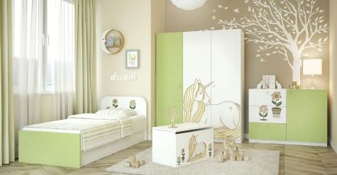 MTM - kolorowe meble z grafiką do pokoju dziewczynki