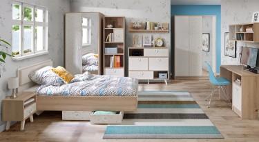 Skandynawskie meble w nowoczesnej sypialni