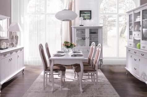 Konsimo - białe meble do domu i mieszkania w stylu retro Briton