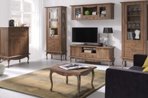 Konsimo - meble do mieszkania i domu w stylu retro Briton ciemny dąb