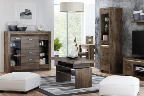 Konsimo - nowoczesne meble do salonu z drewnianym dekorem Algori