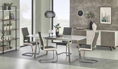 Halmar - meble pokojowe łączące biel i beton Stonno