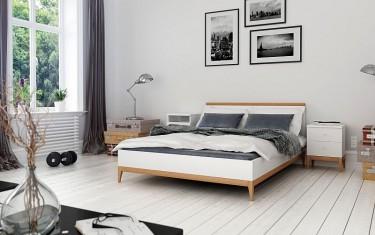 Meble do sypialni z naturalnego drewna sosnowego i bukowego