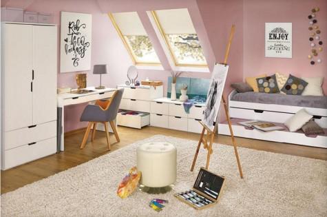 Halmar - białe meble do pokoju młodzieżowego Eskimo