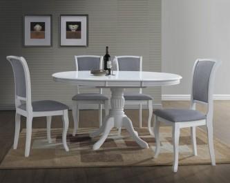 Okrągły stół do jadalni z rozkładanym blatem w stylu retro