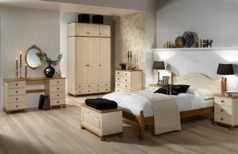 Steens - romantyczne meble do sypialni Richmond kremowe
