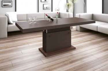 Ławostół podnoszony i rozkładany z widoczną strukturą drewna w salonie z kremowym wypoczynkiem