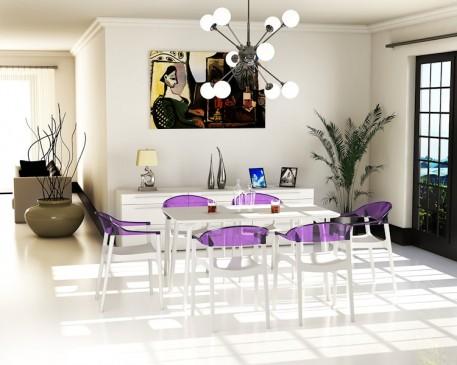 Siesta - nowoczesne meble do kawiarni z tworzywa sztucznego Maya
