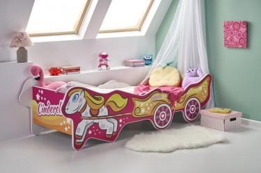 Łóżko dziecięce z motywem księżniczki i regulacją długości