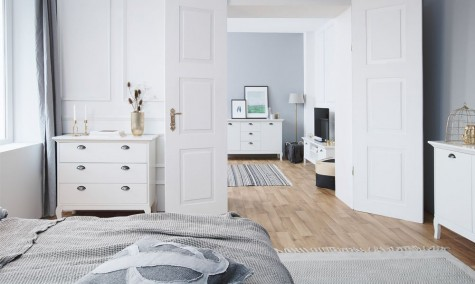 Fontini - prowansalskie meble mieszkaniowe w kolorze białym Provence
