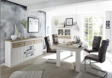 Fato Luxmeble - prowansalskie meble mieszkaniowe z dodatkiem drewnianego dekoru Parma
