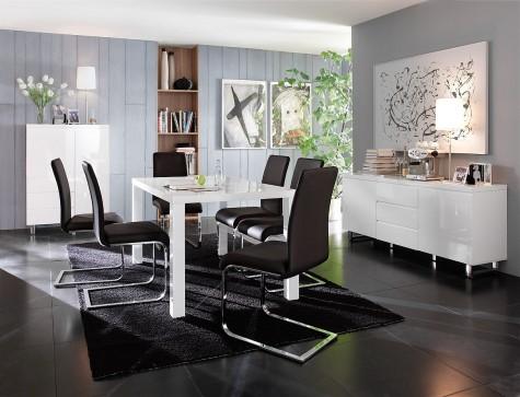 Fato Luxmeble - meble do biura i mieszkania w białym połysku Barney