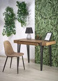 Nowoczesne biurko z szufladą i tapicerowane krzesło w stylu industrialnym