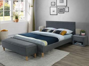Tapicerowane meble sypialniane w odcieniu szarości