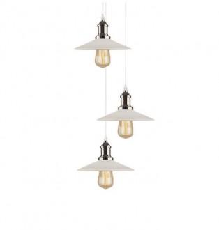 Wisząca lampa Eindhoven Loft MCH CO z białymi kloszami