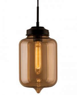 Wisząca lampa London Loft 2 ze szklanym kloszem