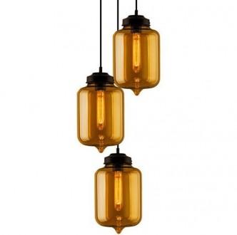 Wisząca lampa London Loft 2 CO ze szklanymi kloszami