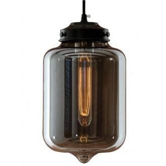 Wisząca lampa London Loft 2 z dymionym kloszem