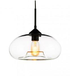 Nowoczesna lampa wisząca London Loft 3 ze szklanym kloszem